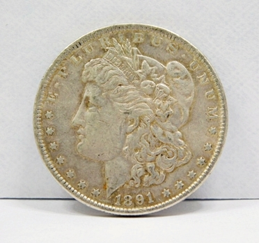 1891 Morgan Silver Dollar 90% Silver