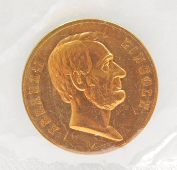 "1.25"" Bronze Medallion of Abraham Lincoln - Beautiful Proof Finish"
