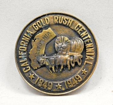 RARE 1849-1949 California Gold Rush Centennial So-Called Dollar - HK-500