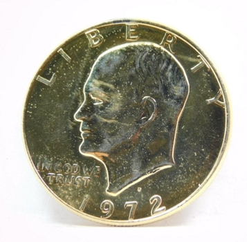 "1972-D 24K Gold Layered Eisenhower - ""IKE"" Dollar"