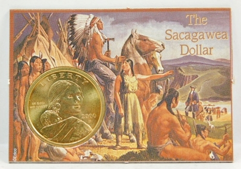 2000-D Sacagawea $1 Coin-Brilliant Golden Uncirculated-Encased Into A Custom Snap Holder