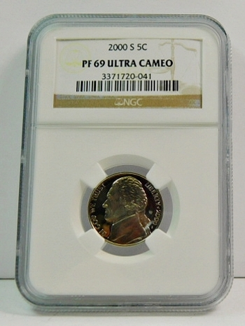 2000-S Proof Jefferson Nickel - Graded PF69 ULTRA CAMEO by NGC