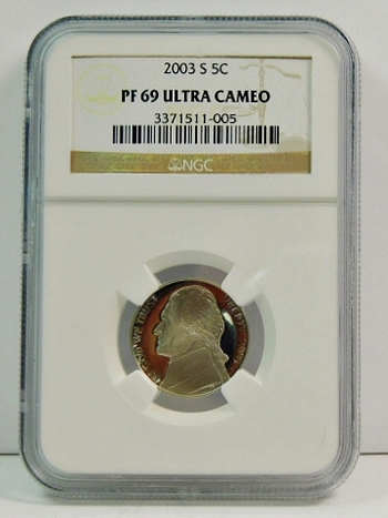 2003-S Proof Jefferson Nickel - Graded PF69 ULTRA CAMEO by NGC