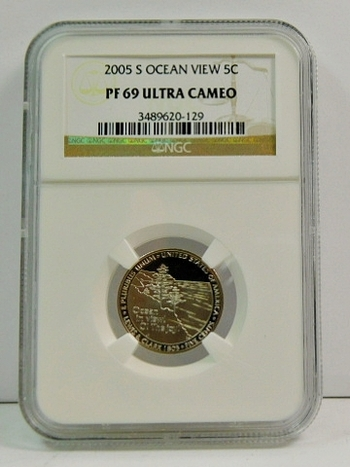 2005-S Proof Ocean View Jefferson Nickel - Graded PF69 ULTRA CAMEO by NGC
