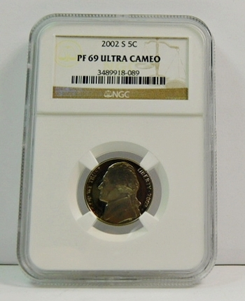 2002-S Proof Jefferson Nickel - Graded PF69 ULTRA CAMEO  by NGC