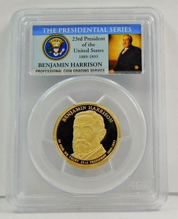 2012-S Benjamin Harrison Proof Presidential Dollar ($1) - The Presidential Series - Graded PR69 DCAM by PCGS