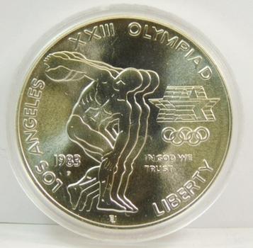 1983-P Los Angeles Olympics XXIII Silver Dollar Commemorative-Brilliant Choice Uncirculated!