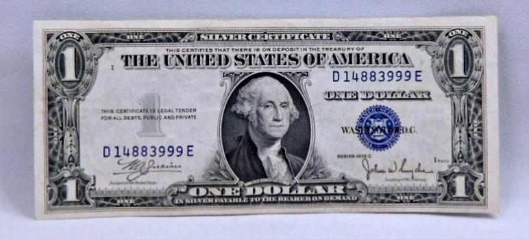 1935C $1 Silver Certificate - High Grade Crisp Note
