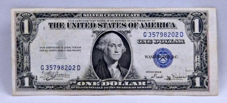 1935B $1 Silver Certificate - Nice Higher Grade Note