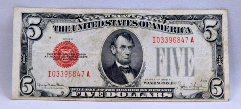 1928F $2 Red Seal U.S. Legal Tender Note