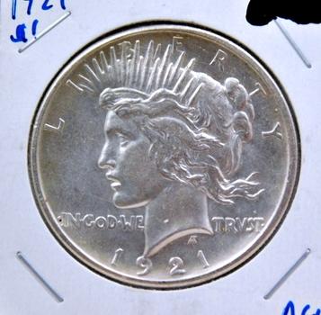 KEY DATE 1921 Silver Peace Dollar - High Grade