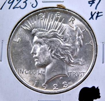 1923-S Peace Silver Dollar - San Francisco Minted - High Grade w/Original Mint Luster