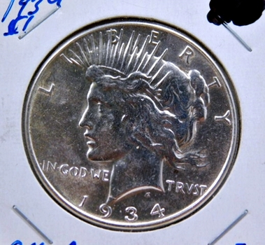 1934 Silver Peace Dollar - High Grade