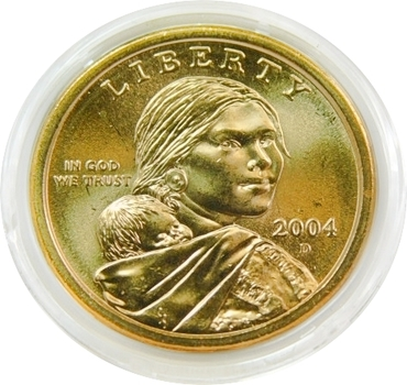 2004-D Brilliant Uncirculated Sacagawea Commemorative Dollar - Denver Minted - In Original Mint Capsule