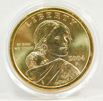 2004-P Brilliant Uncirculated Sacagawea Commemorative Dollar - Philadelphia Minted - In Original Mint Capsule