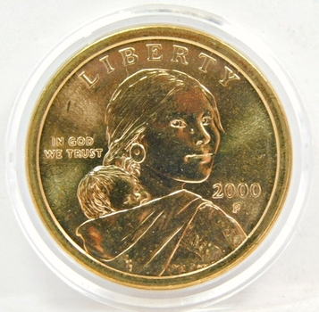 2000-P Brilliant Uncirculated Sacagawea Commemorative Dollar - Philadelphia Minted - In Original Mint Capsule