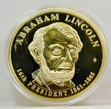 Abraham Lincoln TRIAL Dollar Coin-American Mint Produced-Gem Proof Condition-Custom Packaged With COA