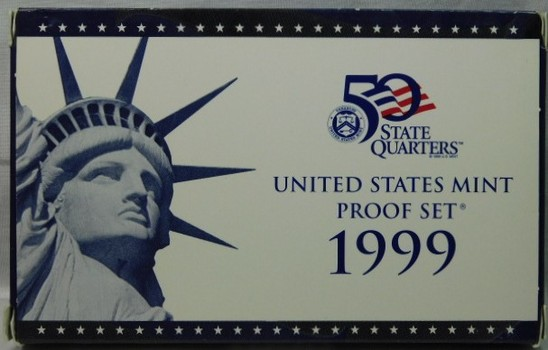 1999 United States Mint Proof Set - Complete with 1999 Quarters