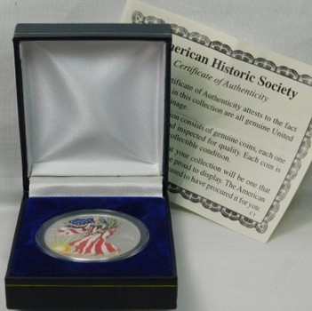 1999 Colorized American SILVER EAGLE - In Gift Box with COA