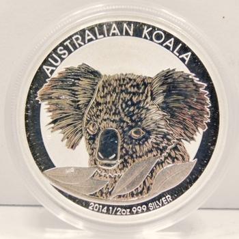 2014 Australian Koala 1/2 oz .999 Fine Silver - Brilliant Uncirculated in Original Mint Capsule