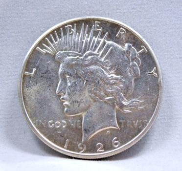 SCARCE DATE 1926-S Silver Peace Dollar - San Francisco Minted - w/Original Mint Luster