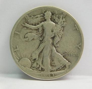 1933-S SILVER Walking Liberty Half Dollar