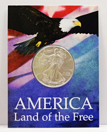 2020 $1 American Silver Eagle 1 oz .99.9% Fine Silver - Brilliant Uncirculated Encased in a Beautiful Protective Placard