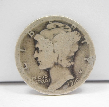 SCARCE DATE - 1916-S Silver Mercury Dime - Struck at the San Francisco Mint