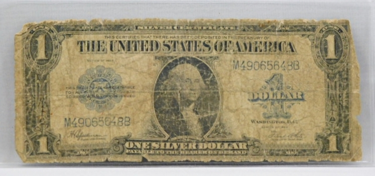 1923 One Dollar Silver Certificate Large Size Note