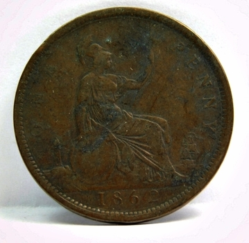 1862 Great Britain Large Cent