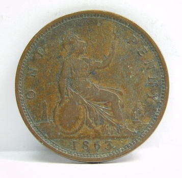 1863 Great Britain Large Penny