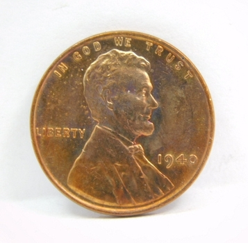 1940 Brilliant Uncirculated Lincoln Wheat Cent - Excellent Detail - RED