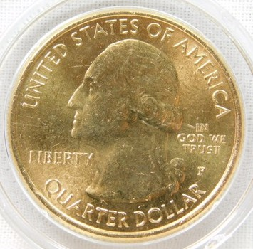 2012-P 24K Gold-Layered Denali, Alaska National Parks Quarter - In Plastic Capsule