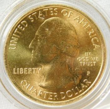 2011-P 24K Gold-Layered Vicksburg, Mississippi National Parks Quarter - In Plastic Capsule