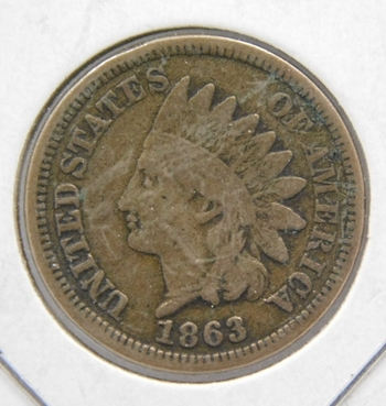1863 Indian Head Penny-Copper Nickel Civil War Issue-Original Condition!