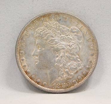 HIGH GRADE 1880 Morgan Silver Dollar - Toned Philadelphia Mint