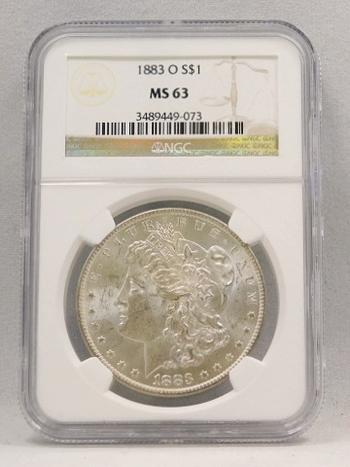 1883-O Morgan Silver Dollar NGC Graded MS 63