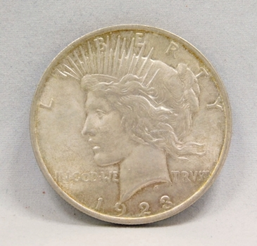 1923 Silver Peace Dollar - High Grade Lustrous Coin!