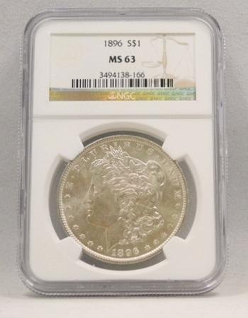 1896 Morgan Silver Dollar NGC Graded MS 63