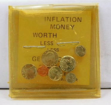 Inflation Money - Miniature Coins - Ike and Susan B. Anthony Dollar, Half Dollar, Quarter, Dime, Nickel and Cent