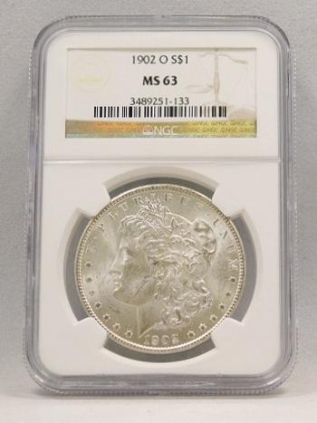 1902-O Morgan Silver Dollar NGC Graded MS 63