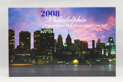 2008 United States Mint Uncirculated Coin Set - Philadelphia Minted - In Original Mint Packaging