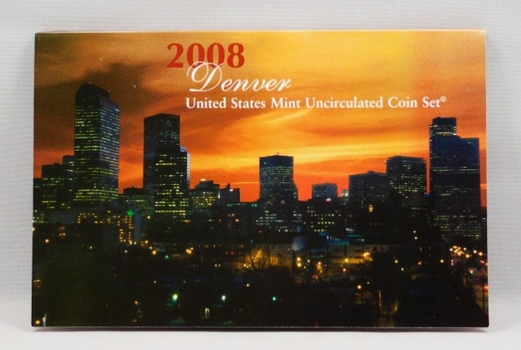 2008 United States Mint Uncirculated Coin Set - Denver Minted - In Original Mint Packaging