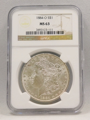 1884-O Morgan Silver Dollar - Graded MS63 by NGC - New Orleans Minted