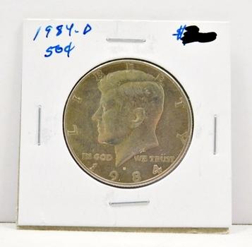 1984-D Kennedy Half Dollar Very High Grade
