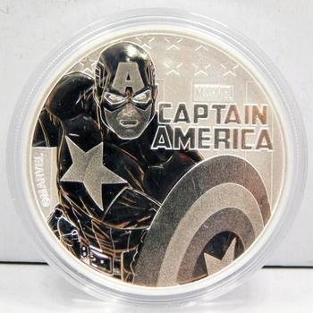 2019 MARVEL Captain America 1 oz .9999 Fine Silver Commemorative Coin