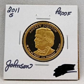 2011-S Andrew Johnson Presidential Proof Dollar