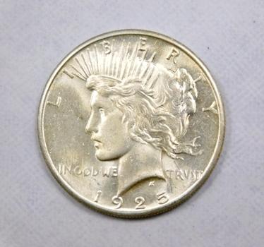 1925 Silver Peace Dollar High Grade