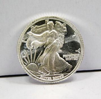 1/10 oz .999 Fine Silver Walking Liberty Round - Money Metals Exchange