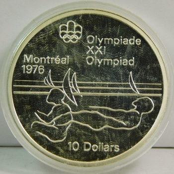 1976 Canada Silver 10 Dollars Montreal Commemorative ~1.5 Oz. Of Silver